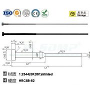 Shouldered ejector pin cylindrical head DIN1530-ISO8694